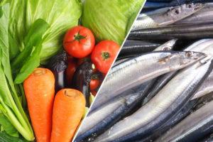 魚と野菜(イメージ)